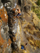 Rock Climbing Photo: i havd the third ascent of the team with eliza dow...