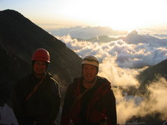 Rock Climbing Photo: Shane and I just before we start up the Integral r...
