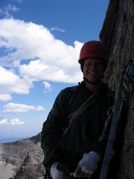 Just before a series of rappels.