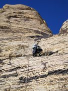 Rock Climbing Photo: Having a nice time on an unknown variation start t...