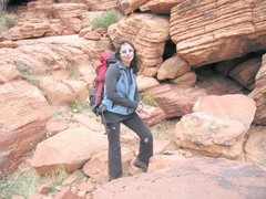 Rock Climbing Photo: Looking like a nerd after getting spanked on some ...