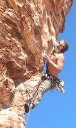 Rock Climbing Photo: Near the top of Caustic Cock.