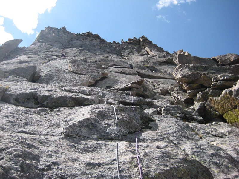 Rock Climbing Photo: Liz leading!  There were THREE parties in front of...