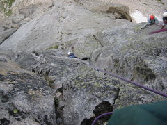 Rock Climbing Photo: Liz and I were getting cold at the belay, so I fou...