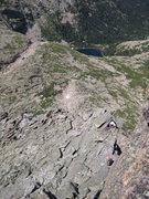 Rock Climbing Photo: Jim C and Rita just below the minor summit.
