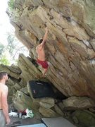 Rock Climbing Photo: Tyler on Million Dollar Problem (V5)