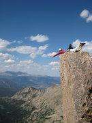 Rock Climbing Photo: Screw walking! This is three seconds before lift-o...