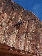 Rock Climbing Photo: Pete on a Threadfin toprope burn.