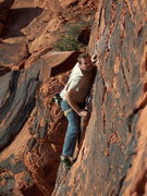 Rock Climbing Photo: Sean on the sharp end feeling the buzz of Electric...