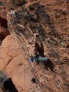 Rock Climbing Photo: Veaz truckin through the crux of Shocking.