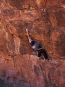 Rock Climbing Photo: Greg entering the crux of Full Sail.