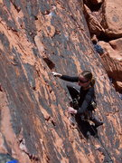 Rock Climbing Photo: Rose on the OS of Blonde Drawf.
