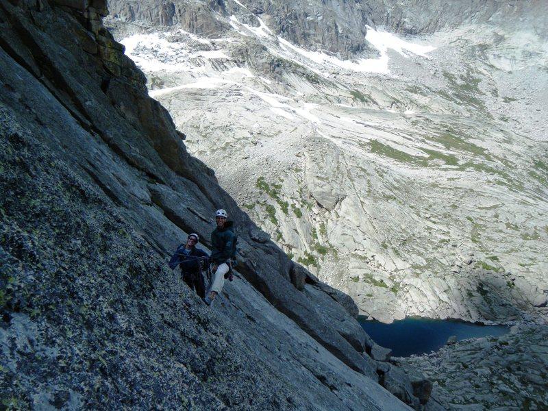 Rock Climbing Photo: Liz and Tim on the North Ridge of Spearhead