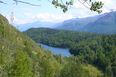 Rock Climbing Photo: The view of Ravine Lake below the Weekender Wall i...