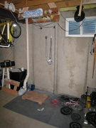 Rock Climbing Photo: This is my hangboard setup in my basement.  Key fe...