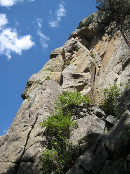 Rock Climbing Photo: Here's a picture of most of the route.  It starts ...