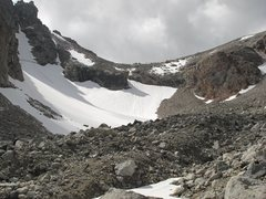 Rock Climbing Photo: Lower Saddle from moraine