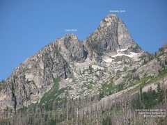 Rock Climbing Photo: Symmetry Spire and Cube Point.  The East Ridge is ...