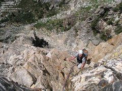 Rock Climbing Photo: On the last golden granite pitch