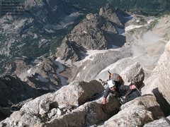 Rock Climbing Photo: Somewhere above Second Ledge.  To my surprise, mos...