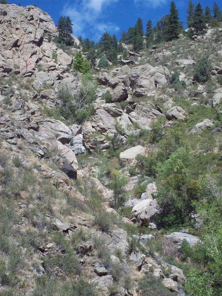 Cascade Boulders (Mile Marker 268).