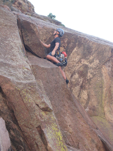 Rock Climbing Photo: First pitch of Tagger.