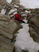 Rock Climbing Photo: KC Pulling the crux on Field's Chimney.  Photo (c)...
