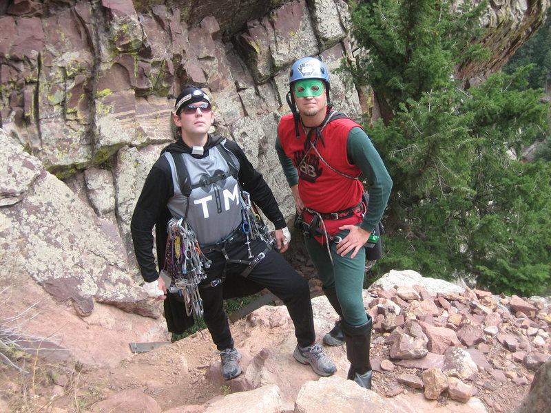 Rock Climbing Photo: TradMan and BelayBoy