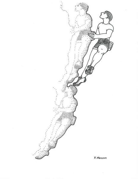 Rock Climbing Photo: Climber Drawing