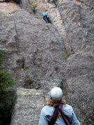 Rock Climbing Photo: Somewhere in the Cathedral Spires. Anne's saying i...