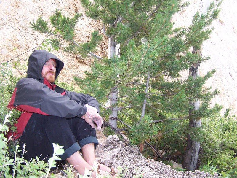 Rock Climbing Photo: Just before the heavy rain started at Wild Iris