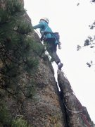 Rock Climbing Photo: Just above crack that takes a couple of pieces.