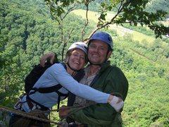 Rock Climbing Photo: Sarah & Craig, Seneca 09