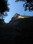 Rock Climbing Photo: The view of the The Rostrum from the bottom.