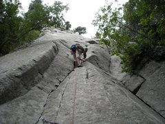 Rock Climbing Photo: Leading the first pitch of Pentapitch so we could ...