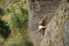 Rock Climbing Photo: Third lead on this 5.8 Crack called Honeymoon Aug....