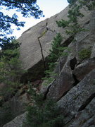 Rock Climbing Photo: The climb.  The business starts in the cave/ramp, ...