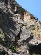 Rock Climbing Photo: The correct line, as seen from inside the Gash/All...