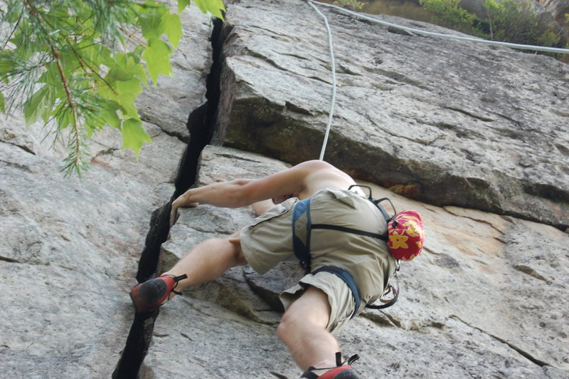 Rock Climbing Photo: Bradley doing crack.