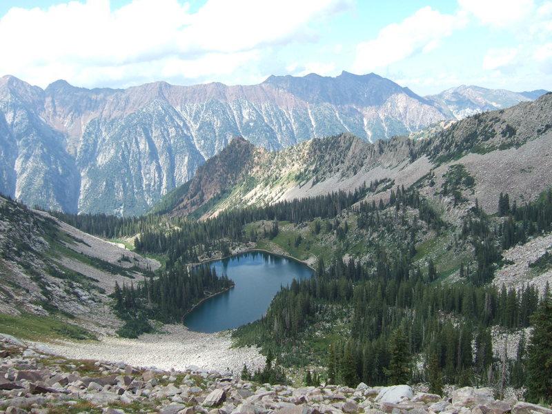 Lower Red Pine Lake<br> Pfeifferhorn<br> 8/15/2009