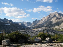 Rock Climbing Photo: Titcomb Basin from above Island Lake