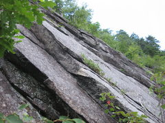 Rock Climbing Photo: The horn at the top of the crack above the Pine tr...