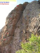 Rock Climbing Photo: Young Bubbas in training is the far right route in...