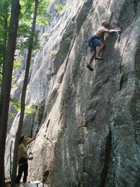 Rock Climbing Photo: One of the many cruxy sections.