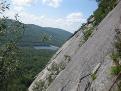 Rock Climbing Photo: The view westerly from the second pitch. Photograp...