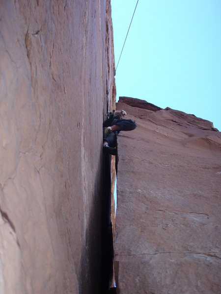Rock Climbing Photo: View from below.