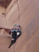 Rock Climbing Photo: Patrick Ackerson at start of WHJ.