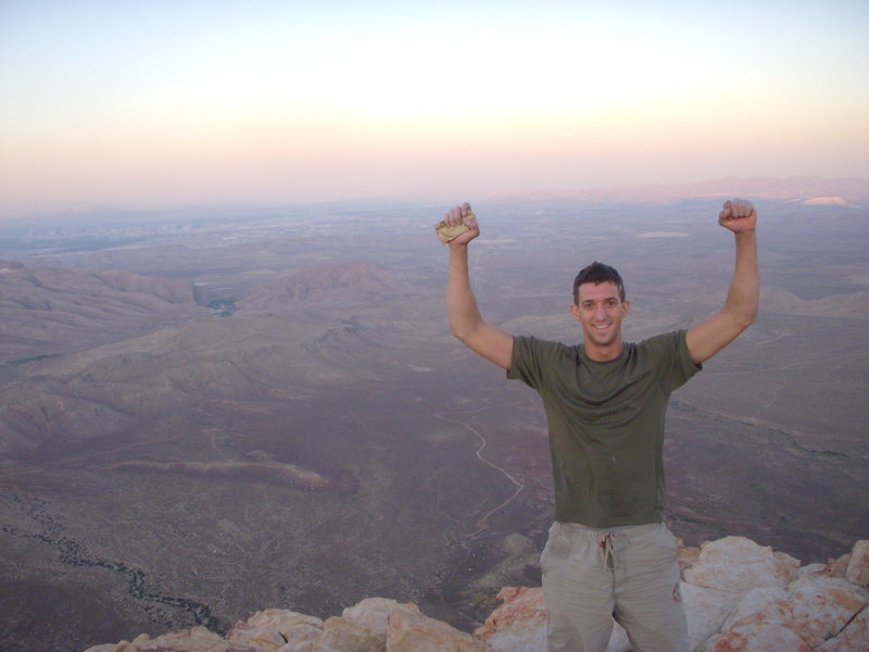 Rock Climbing Photo: Triumph!