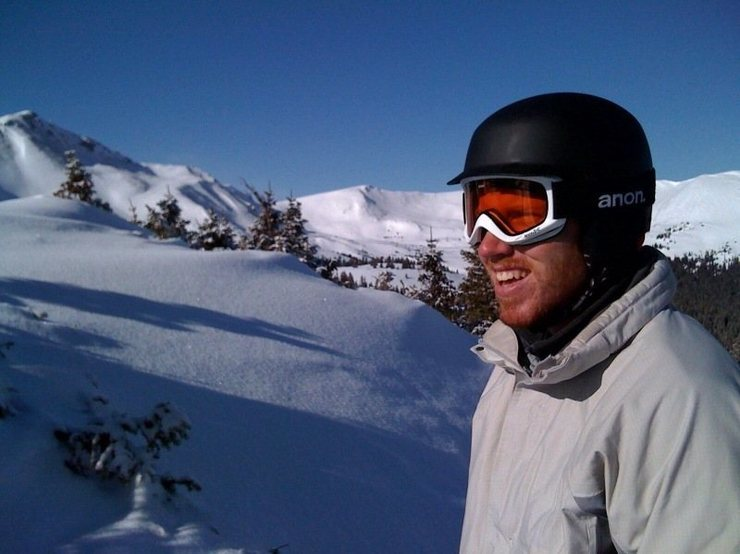 Me snowboarding at copper