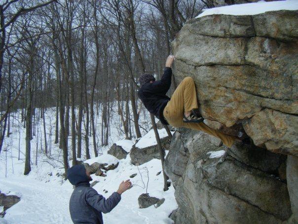 Rock Climbing Photo: Gill Egg on a 20 degree day